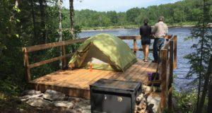 Camping sauvage - secteur Eaux-Vives